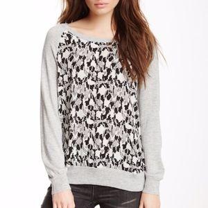 Joie   Malena B Printed Cashmere Silk Sweater Sz S